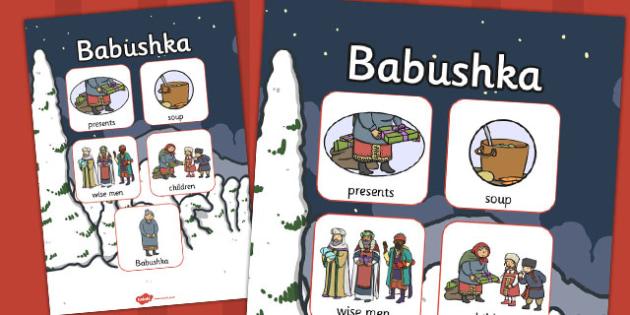 Babushka Vocabulary Poster - babushka, vocabulary poster, display