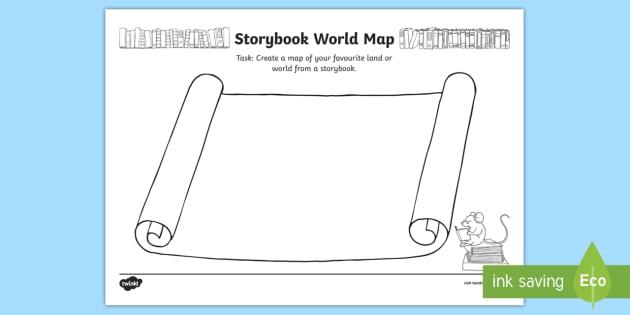 Storybook world map activity book week english reading storybook world map activity book week english reading setting map gumiabroncs Image collections