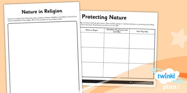 RE: Nature and God Year 2 Home Learning Tasks
