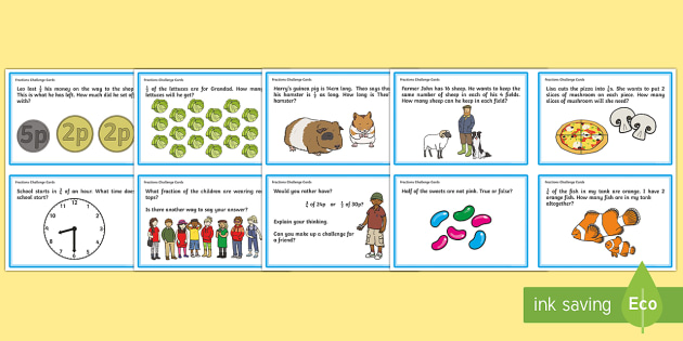 PlanIt Maths Y2 Fractions Challenge Cards