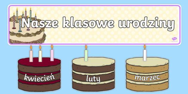 Zestaw Urodziny z tortami do edytowania po polsku