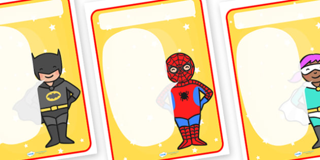 Superheroes Themed Target Posters Large Speech Bubble - superheroes, superheroes themed, target poster, target, class target, themed target, class management
