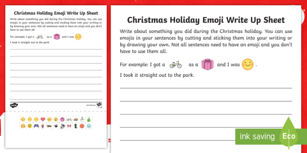 Christmas Recount Writing Frame- Recount, Writing, Worksheet, My