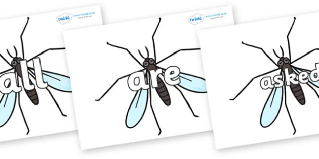 Tricky Words on Crane Flies - Tricky words, DfES Letters and Sounds, Letters and sounds, display, words