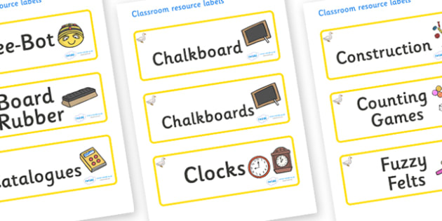Duck Themed Editable Additional Classroom Resource Labels - Themed Label template, Resource Label, Name Labels, Editable Labels, Drawer Labels, KS1 Labels, Foundation Labels, Foundation Stage Labels, Teaching Labels, Resource Labels, Tray Labels, Pri