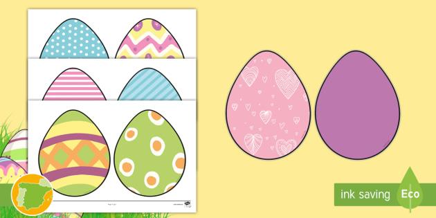 New Imágenes Para Recortar Huevos De Pascua Recortar Manualidad