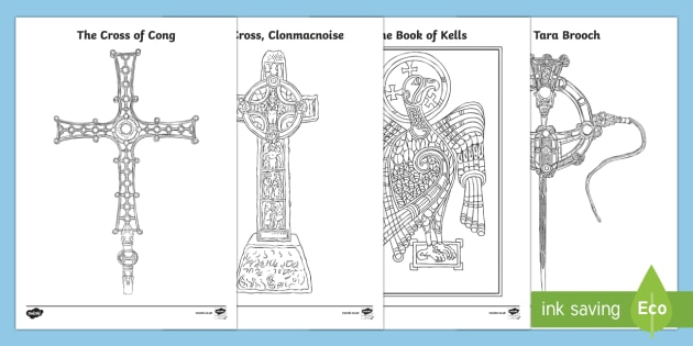 Monastic Treasures Colouring Pages-Irish - Ireland, The Land ...