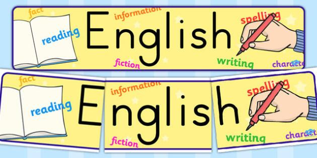English Display Banner - english, display, banner, display banner