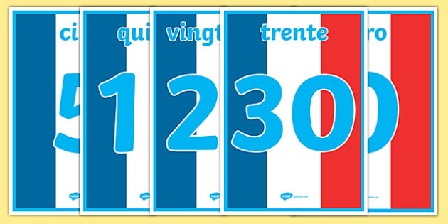 Basic French Numbers 0-31 Display Posters - basic, french, numbers, 0, 31, display, poster