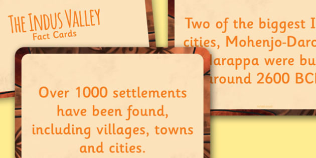 Indus Valley Display Fact Cards - fact cards, cards, indus valley