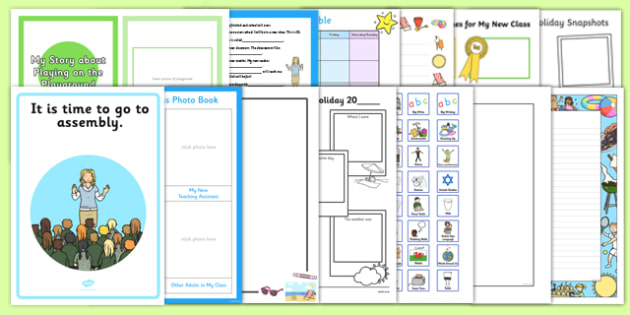 SEN First Day Back Activity Pack