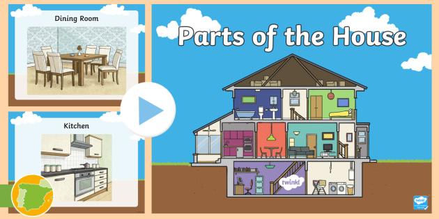 Presentaci n partes de la casa en ingl s hogar house partes - Partes de la casa en ingles para ninos ...