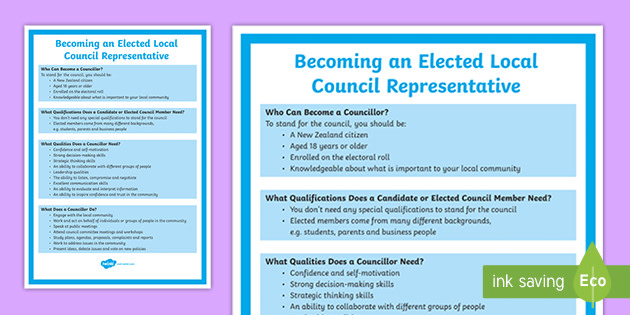 New Zealand Local Body Elections Year 7-8: Job Profile