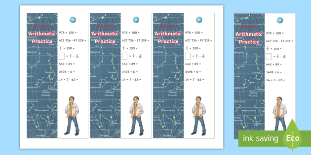 SATs Survival: Year 6 Arithmetic Practice Maths Bookmarks Pack