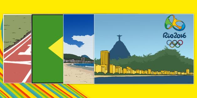 Rio Olympics 2016 Display Cut Outs - rio olympics, 2016 olympics, rio 2016, display, cut outs