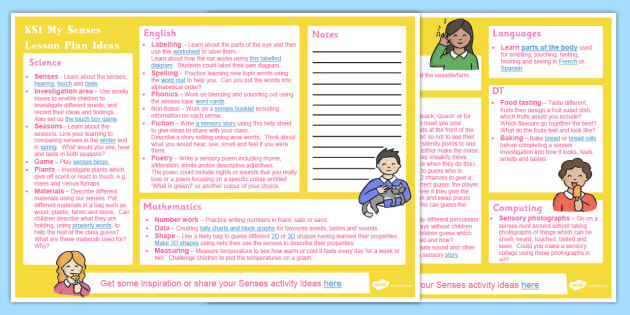Senses Ks Lesson Plan Ideas  Lesson Plan Ks Senses
