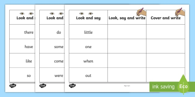 Phase 4 Tricky Words on Writing Practice Worksheets - phase ...