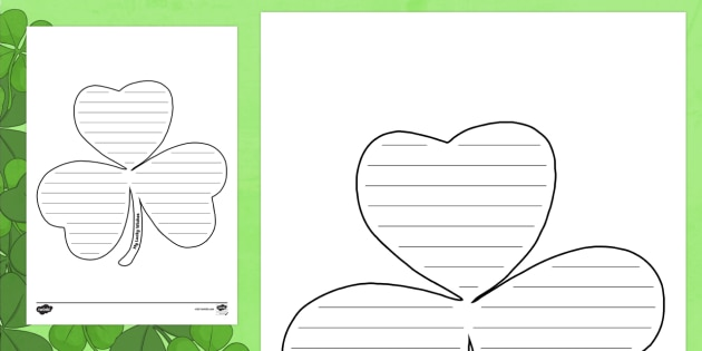 My Lucky Wishes Writing Template   ROI   St. Patricku0027s Day Resources, Lucky  Wishes  Leaf Template For Writing