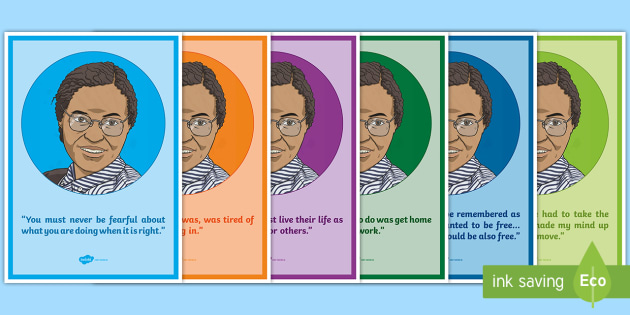 Rosa Parks Quotes Display Posters Civil Rights Movement