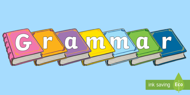 Grammar on Books Display Cut-Outs - Grammar on Books Display Cut-Outs - Grammar, Cut-out, Books, pictures, english, literarcy, gramma, d