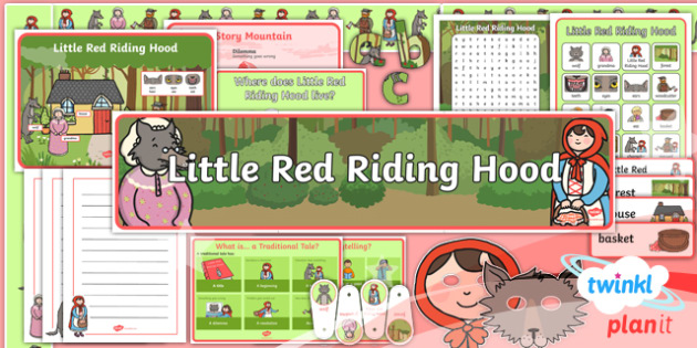 Traditional Tales: Little Red Riding Hood Y1 Display Pack - Display letters, posters, word cards, genre posters, key questions and word mats.
