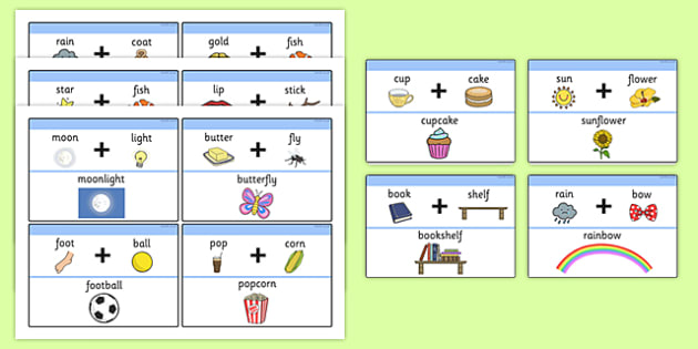 graphic about Printable Compound Word Games called No cost! - Material Term Matching Activity - Material Phrases