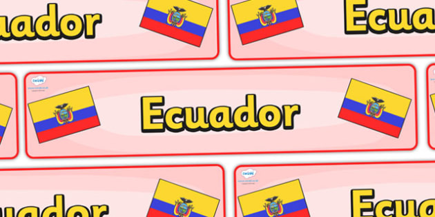 Ecuador Display Banner - Equador, Olympics, Olympic Games, sports, Olympic, London, 2012, display, banner, sign, poster, activity, Olympic torch, flag, countries, medal, Olympic Rings, mascots, flame, compete, events, tennis, athlete, swimming