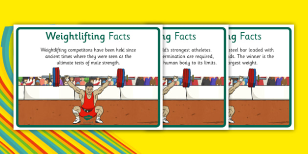The Olympics Weightlifting Display Facts - olympics, olympic game, games, weight, lifting, strong, competition, summer, rio, 2016, brazil, fact, sheet