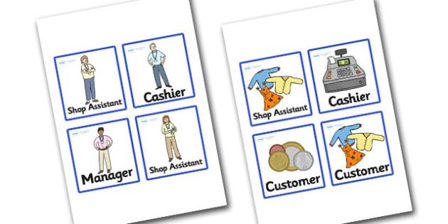 Charity Shops Badges - charity shop, charity shop role badges, charity shop role play badges, charity shop role play, role play badges, job role badges