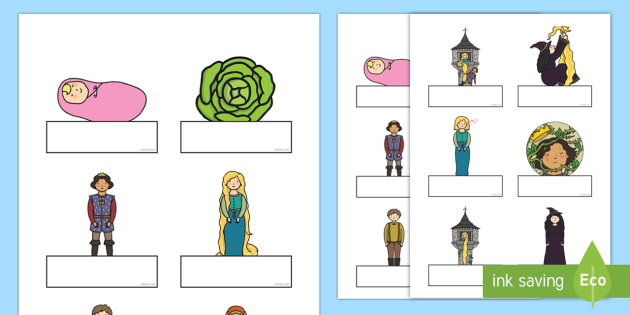 Rapunzel Self Registration - Rapunzel, prince, witch, tower, long hair, fairytale, traditional tale, Brothers Grimm, tower, woods, forest, prince, let down your hair, story, story sequencing