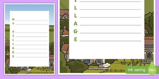 My Village Acrostic Poem