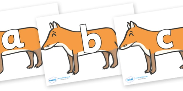 Phoneme Set on Foxes - Phoneme set, phonemes, phoneme, Letters and Sounds, DfES, display, Phase 1, Phase 2, Phase 3, Phase 5, Foundation, Literacy