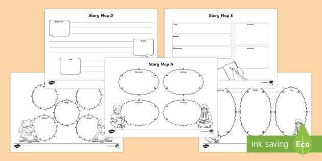 KS1 Story Map Worksheet Templates (teacher Made)