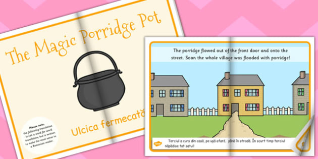 The Magic Porridge Pot eBook EAL Romanian Translation - Romanian