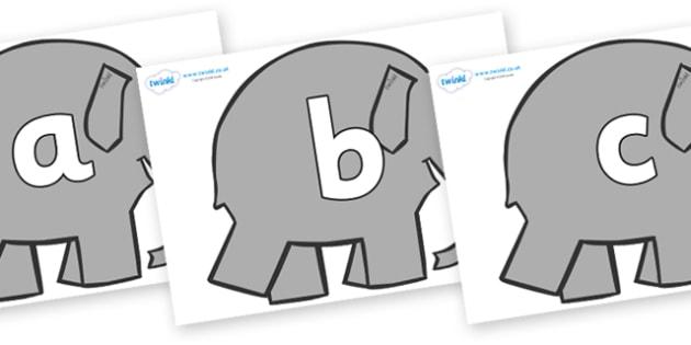 Phoneme Set on Grey Elephant to Support Teaching on Elmer - Phoneme set, phonemes, phoneme, Letters and Sounds, DfES, display, Phase 1, Phase 2, Phase 3, Phase 5, Foundation, Literacy