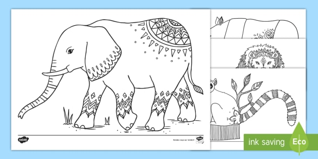 Feuilles De Coloriage Les Animaux Du Zoo Teacher Made