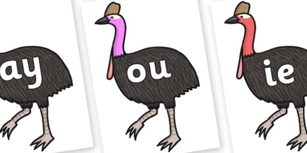 Phase 5 Phonemes on Cassowary - Phonemes, phoneme, Phase 5, Phase five, Foundation, Literacy, Letters and Sounds, DfES, display