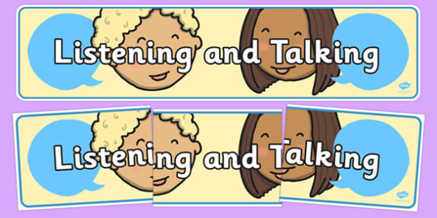 Listening and Talking Display Banner - cfe, listening, talking, display banner, display, banner