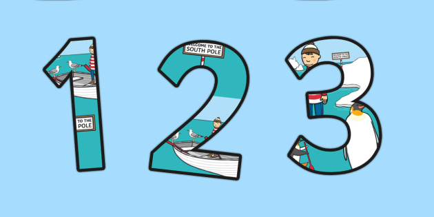 Themed A4 Display Numbers to Support Teaching on Lost and Found - lost, found, numbers