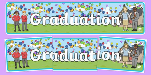 School Graduation Display Banner - graduation, display banner