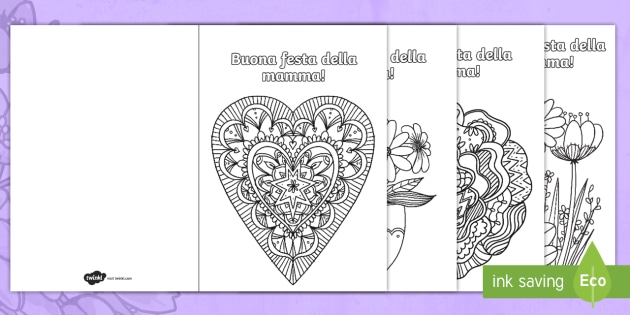 Biglietti Della Festa Della Mamma Scuola Primaria