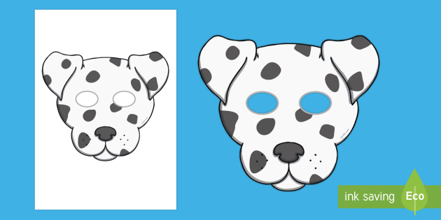 photograph regarding Dog Mask Printable named Dalmatian Doggy Position Engage in Masks - dalmation, canine, mask, disney