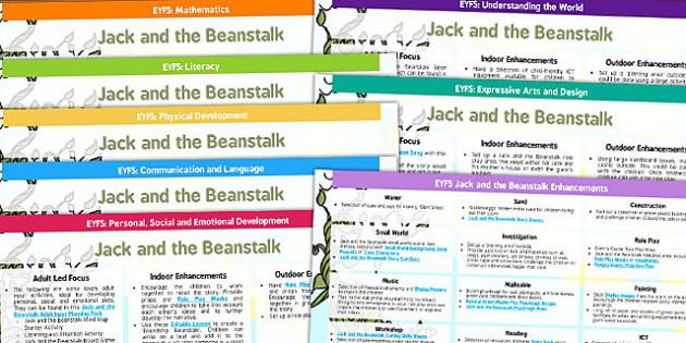 Classroom Enhancement Ideas ~ Jack and the beanstalk eyfs lesson plan enhancement