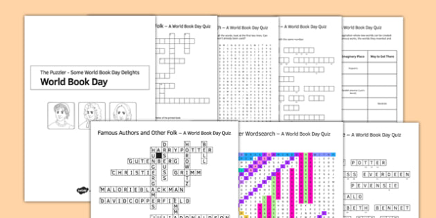 World Book Day Quizzes Pack - World Book Day, Puzzles, Games, Reading, Authors, Characters, International Children's Book Day