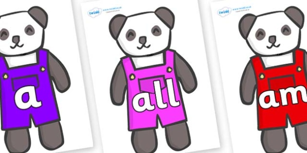 Foundation Stage 2 Keywords on Panda Bears - FS2, CLL, keywords, Communication language and literacy,  Display, Key words, high frequency words, foundation stage literacy, DfES Letters and Sounds, Letters and Sounds, spelling