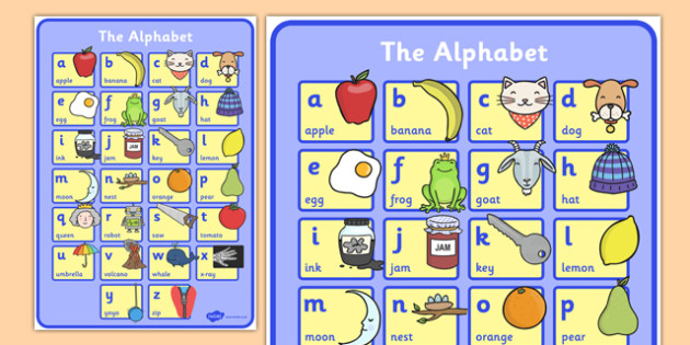 Alphabet Phonics Large Poster - phase 1, phonics, poster, display