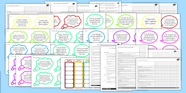 2014 Curriculum Lower KS2 Science Assessment Pack - targets