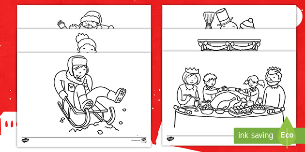 Winter Activities Coloring Pages Teacher Made