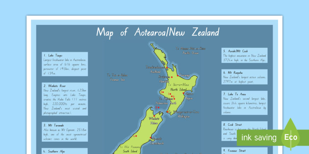 New Zealand Maori Map.New Zealand Nz Geography Map Poster