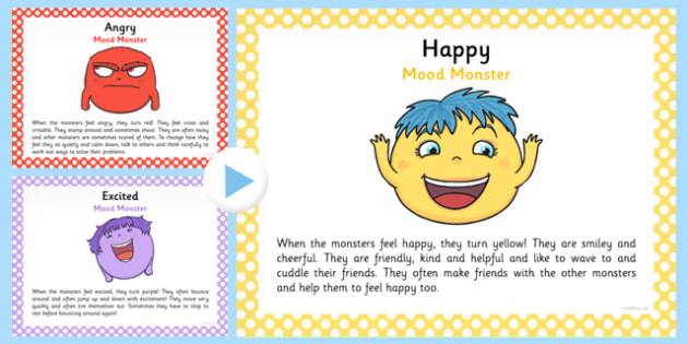 Meet the Mood Monsters PowerPoint - meet, mood, monsters, powerpoint